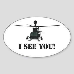 I See You! Oval Sticker