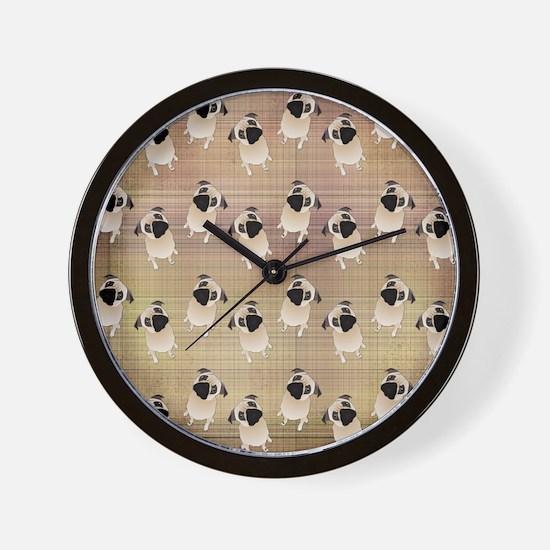 Pug 1 (3) Wall Clock