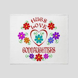 Hugs Love Goddaughters Throw Blanket