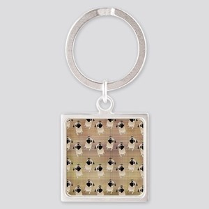 Pug 1 (3) Square Keychain