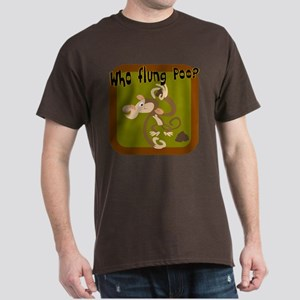 Who Flung Poo? Dark T-Shirt
