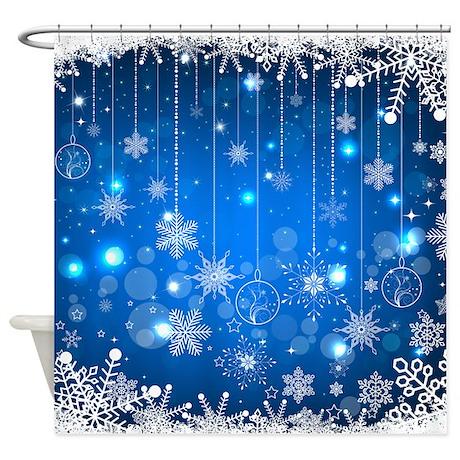 Snowflakes Shower Curtain By Stargazerdesignsholidays