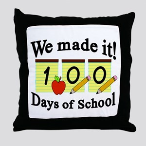 100th Day We made it! Throw Pillow