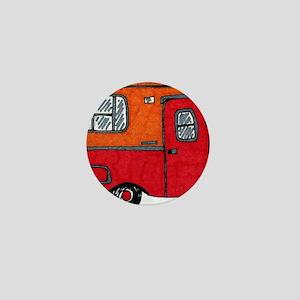 Cute orange boler camper Mini Button