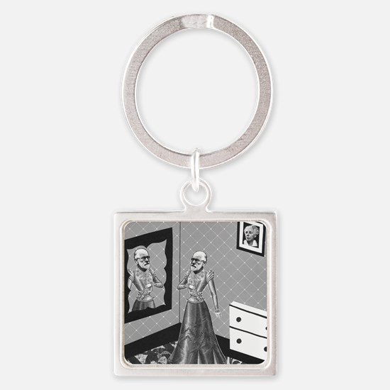 A Good Exercise Square Keychain