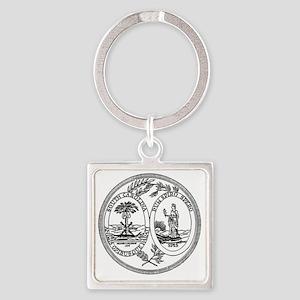 North Carolina State Seal Square Keychain