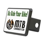 Color Logo - White Rectangular Hitch Cover