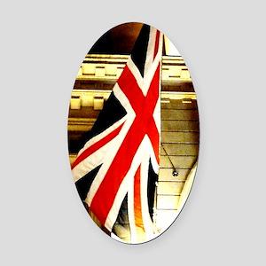 14x10 Union Flag Oval Car Magnet