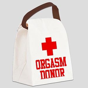 Orgasm Donor Canvas Lunch Bag