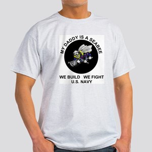 US Navy Seabee Daddy Light T-Shirt