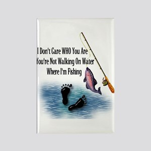 Fishing Here! Rectangle Magnet