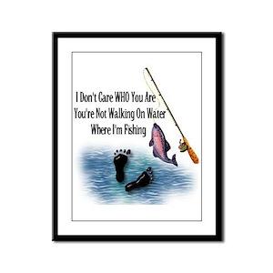 Fishing Here! Framed Panel Print