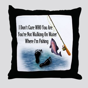 Fishing Here! Throw Pillow