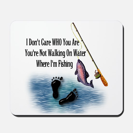 Fishing Here! Mousepad