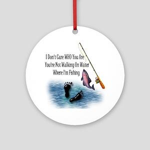 Fishing Here! Ornament (Round)