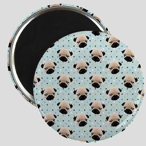Pugs on Polka Dots Magnet