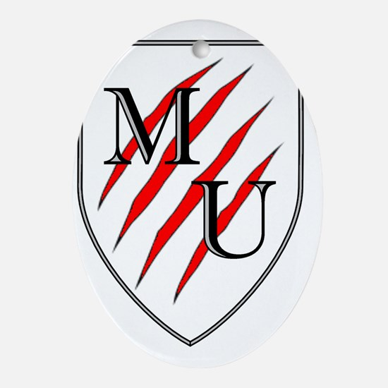 maneater university shield Oval Ornament
