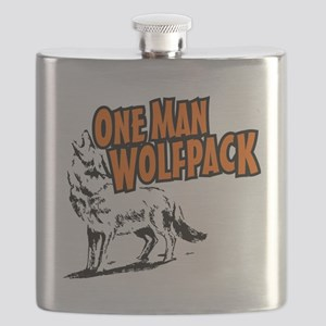 One Man Wolfpack Flask