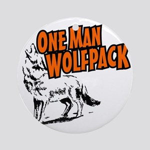 One Man Wolfpack Round Ornament