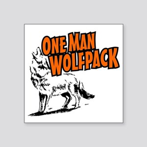 """One Man Wolfpack Square Sticker 3"""" x 3"""""""