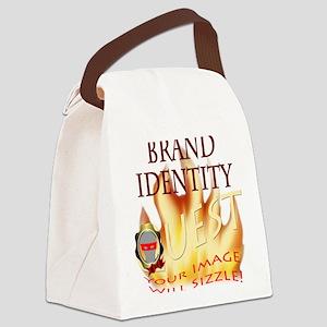 Brand Identity Quest Logo Canvas Lunch Bag