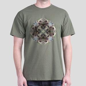 Grizzly Bear Mandala Dark T-Shirt