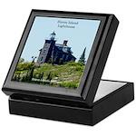 Huron Island Lighthouse Keepsake Box