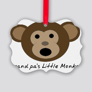 Grandpas Little Monkey Picture Ornament