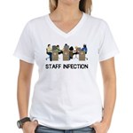 Staff Infection Women's V-Neck T-Shirt