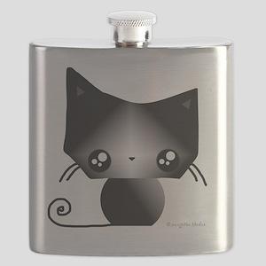 Omanju Neko Black Gray Flask