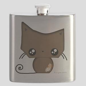 Omanju Neko Brown Flask