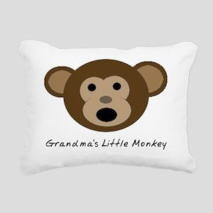 Grandmas Little Monkey Rectangular Canvas Pillow