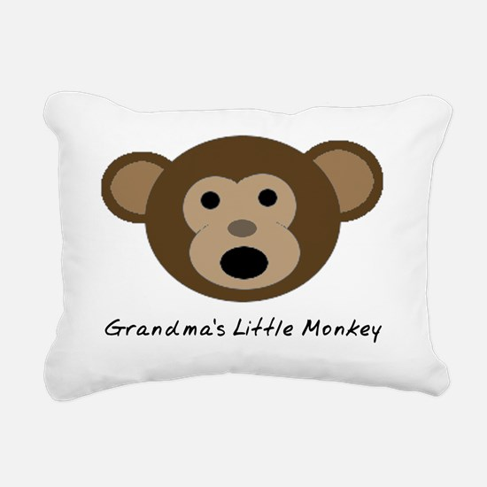 Grandmas Little Monkey Rectangular Canvas Pillow