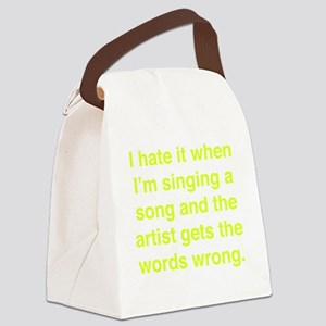 singSongWrong1E Canvas Lunch Bag
