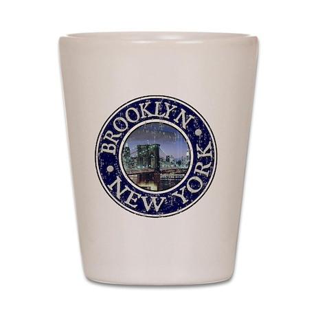Brooklyn, NY - Distressed Shot Glass