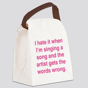 singSongWrong1F Canvas Lunch Bag