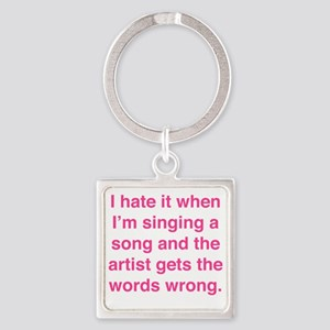 singSongWrong1F Square Keychain