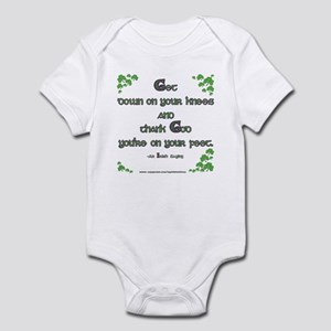 Thank God you're on your feet Infant Bodysuit