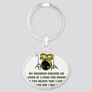 neighborDrums2D Oval Keychain