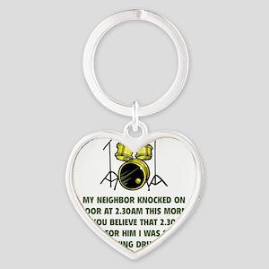 neighborDrums2D Heart Keychain