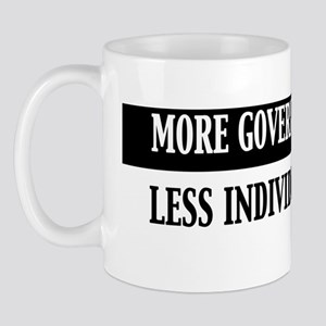 More Government Means Less Individual F Mug