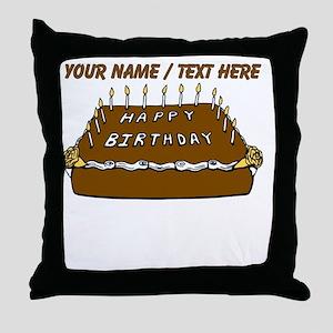 Custom Birthday Cake Throw Pillow