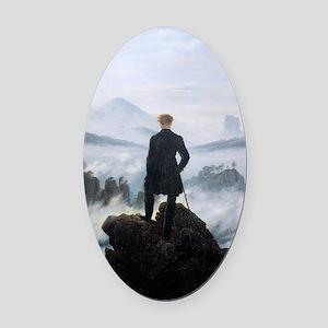 Caspar David Friedrich wanderer ab Oval Car Magnet