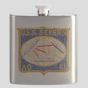 uss severn patch transparent Flask