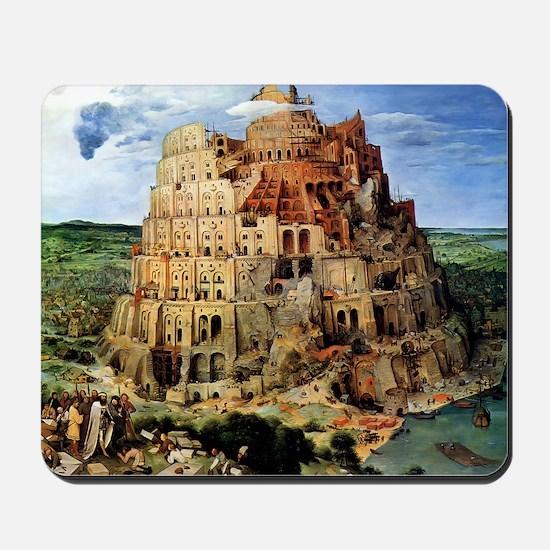 Pieter Bruegel the Elder The Tower Of Ba Mousepad