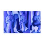 Reflections in Blue II 35x21 Wall Decal