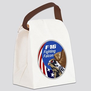 F-16 Falcon Canvas Lunch Bag