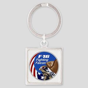 F-16 Falcon Square Keychain