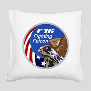 F-16 Falcon Square Canvas Pillow