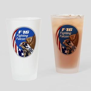 F-16 Falcon Drinking Glass